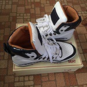 White and Black Tru Religion Shoes